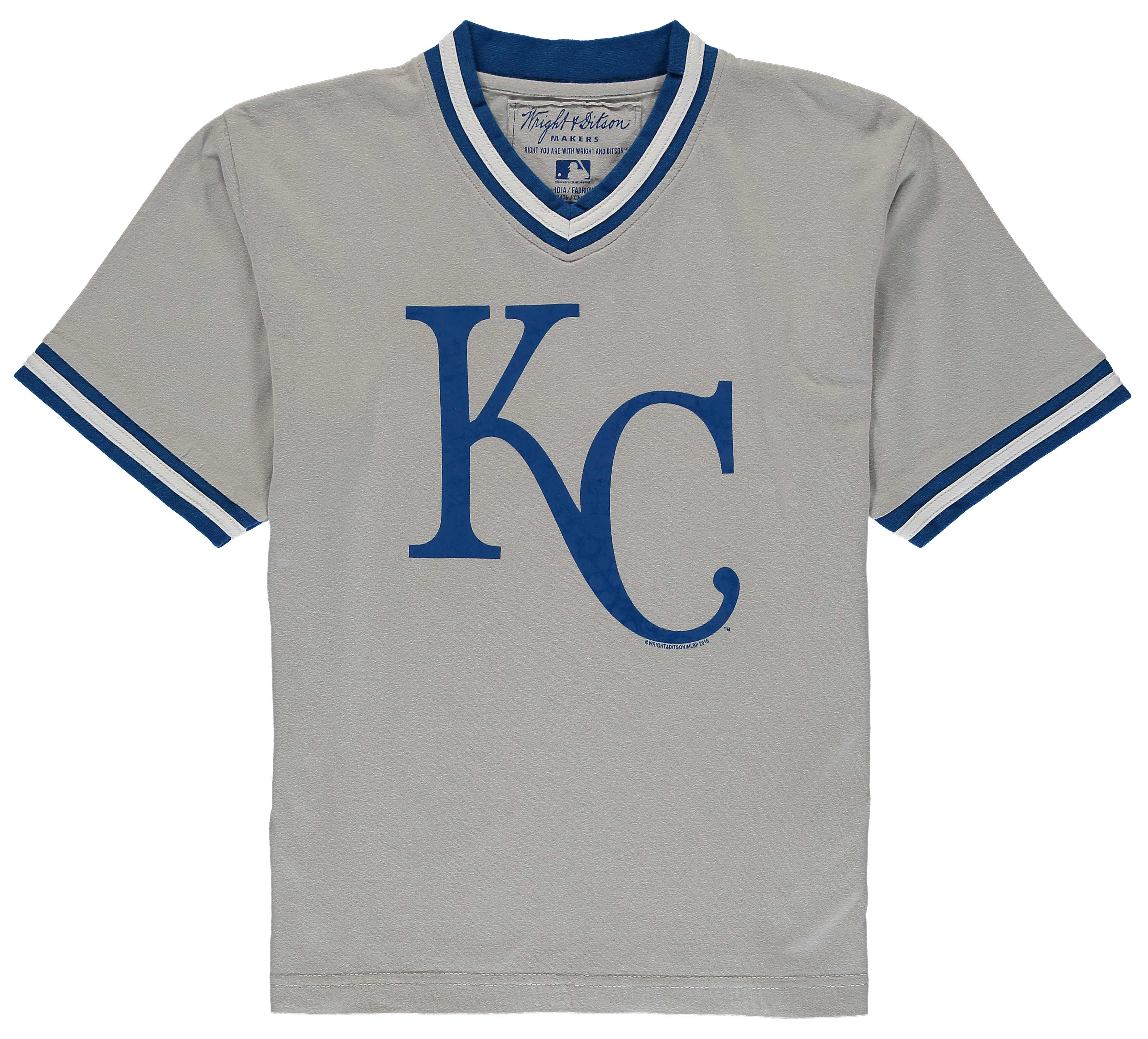 Kansas City Royals Wright & Ditson Youth Eephus Baseball T-Shirt - Gray