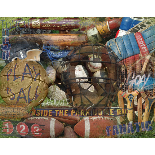 Graffitee Studios Man Cave FANatic Sports Image Graphic Art on Wrapped Canvas