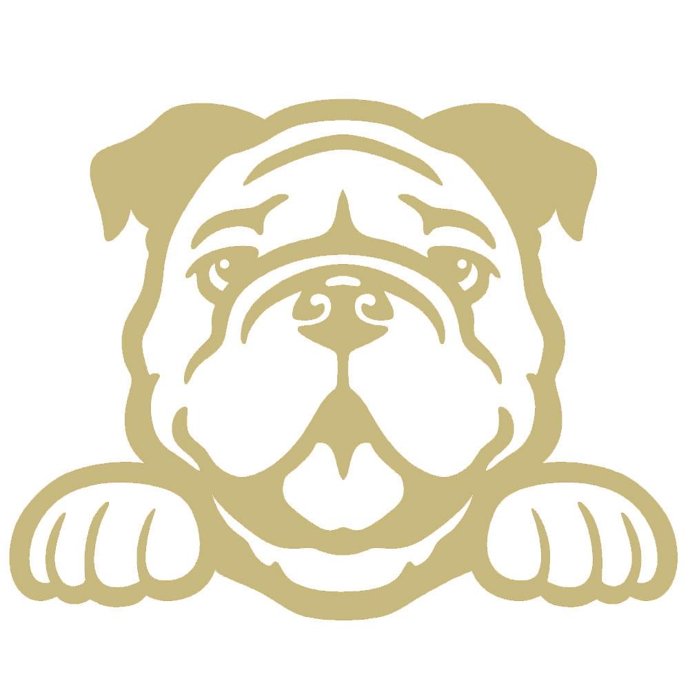 Show Dog Breed Car Tablet Vinyl Decal Brit the English Bulldog