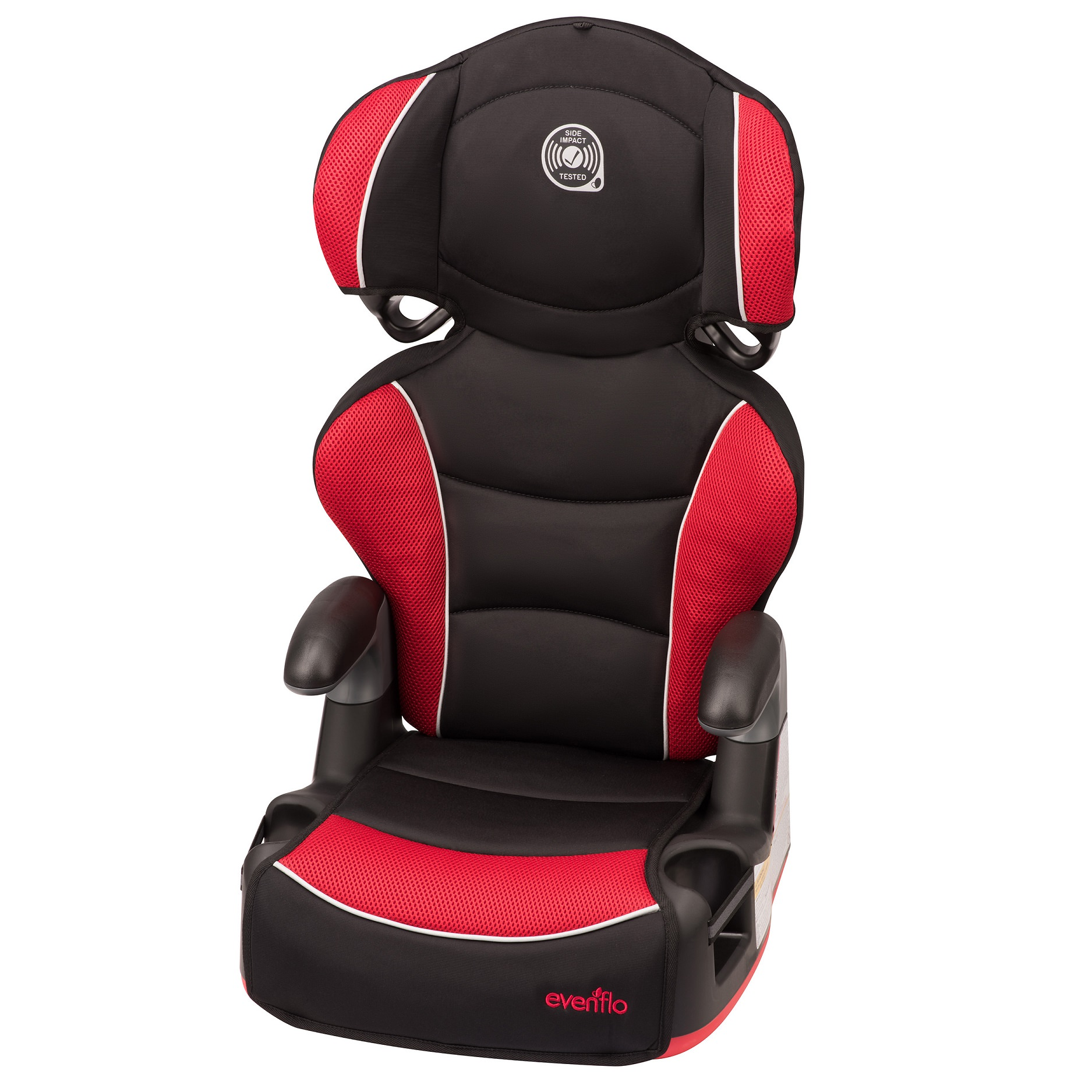 Evenflo Big Kid Amp High Back Booster Car Seat, Heatwave