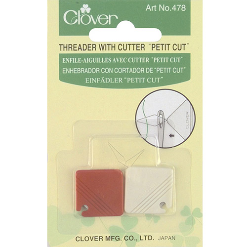 Clover Petite Needle Threader and Cutter, 2-Pack