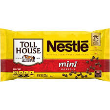 Nestle Toll House Semi-Sweet Chocolate Mini Morsels (Pack of 4)