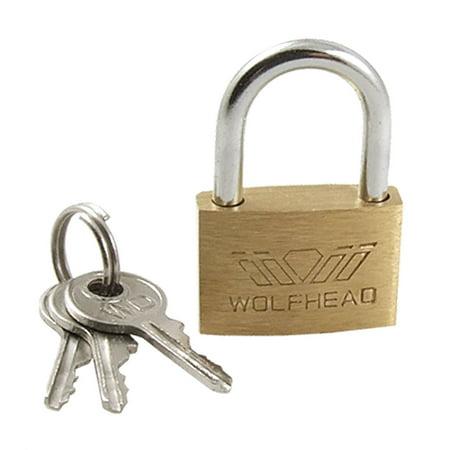 Small Size Security Lock Metal 24mm Door Padlock with -