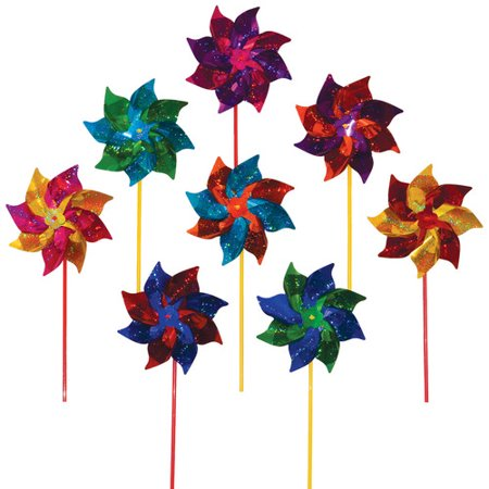 In The Breeze Classic Mylar Pinwheel (Set of 8)