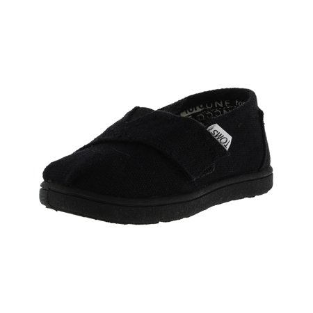 Toms Boy's Classic Canvas Black Ankle-High Flat Shoe - 11M (Cheap Toms For Toddlers)