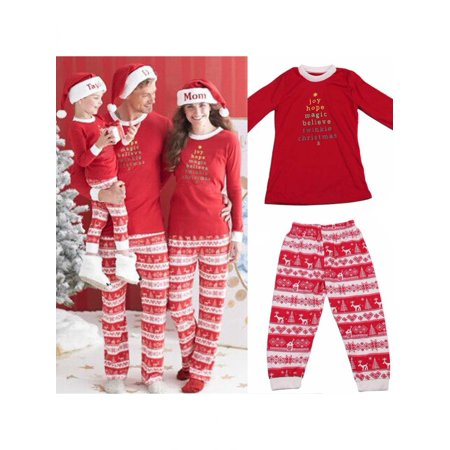 52aca5d246dd Family Matching Christmas Sleepwear Pajamas Women Men Baby Kids Top + Pants  Set By Girl12Queen - Walmart.com