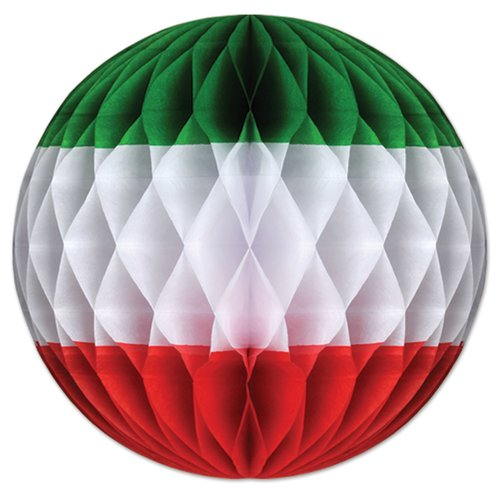 The Beistle Company Tri-Color Tissue Ball Wall D cor (Set of 12)