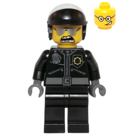 LEGO The LEGO Movie Bad Cop - Head with Crooked Smile Minifigure (Lego Movie Minifigs)