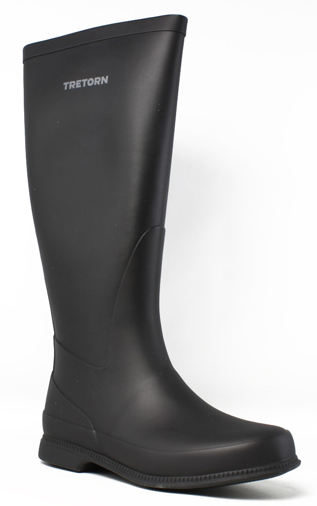 New Tretorn Womens 47324310 Black Rainboots Size 5 by Tretorn