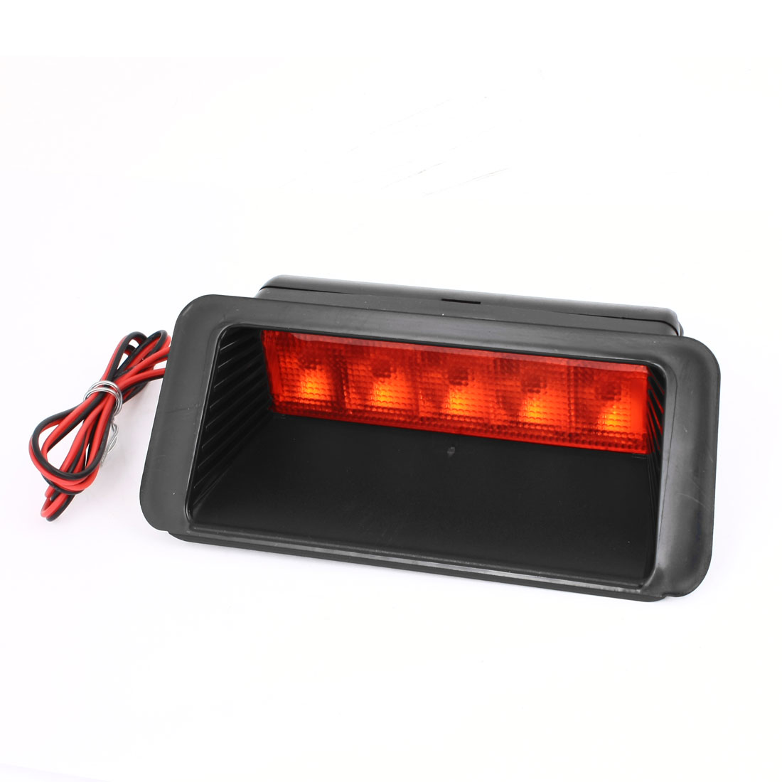 Unique Bargains Accessory 5 Red LED High Mount Brake Rear Tail Lamp Signal Light for Car