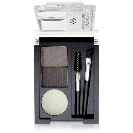 NYX Eyebrow Cake Powder, Black/Gray ECP01 0.09 oz (Nyx Eyebrow Powder Red)