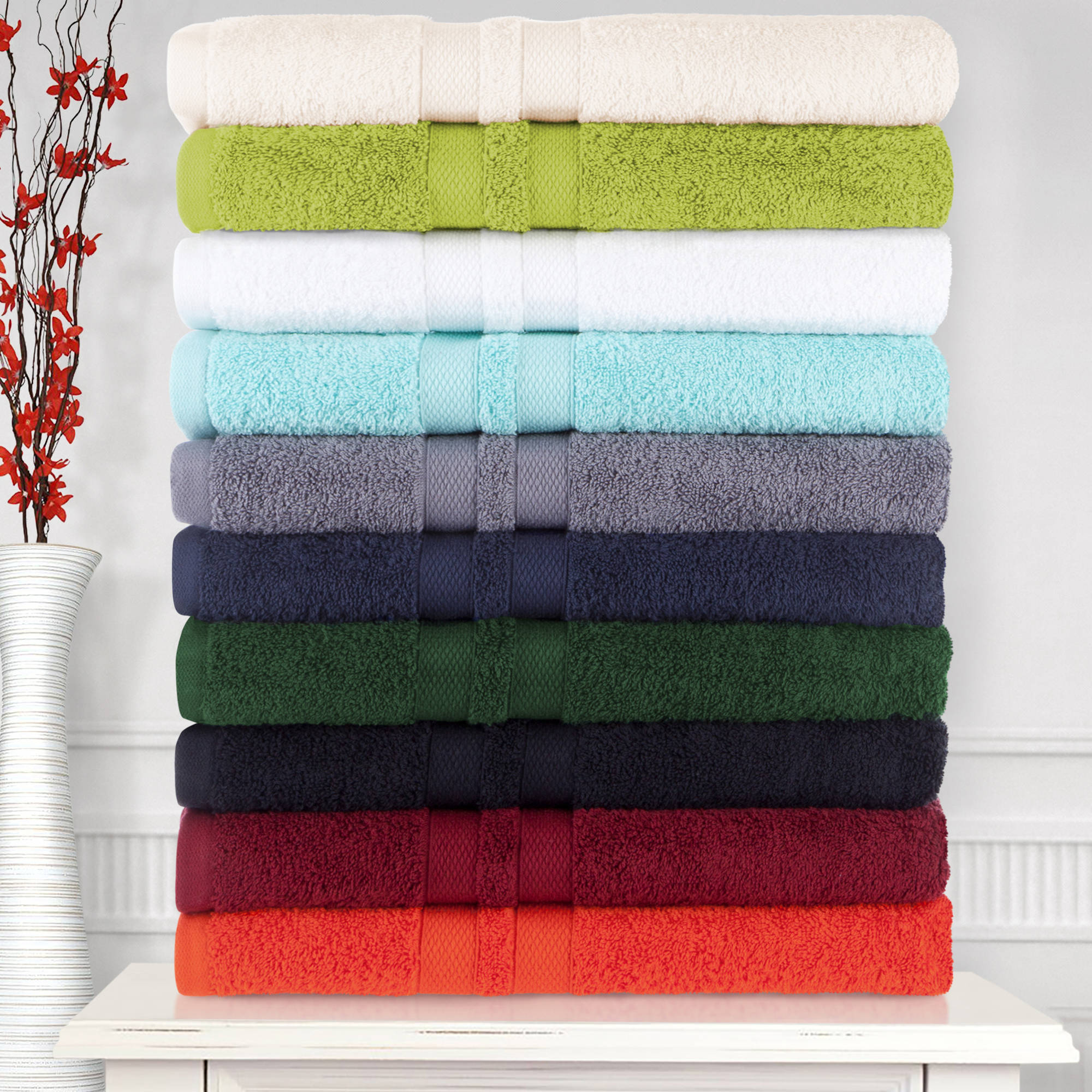 Superior Ultra Soft 100% Cotton 6-Piece Towel Set - (2 face+2 hand+2 bath)