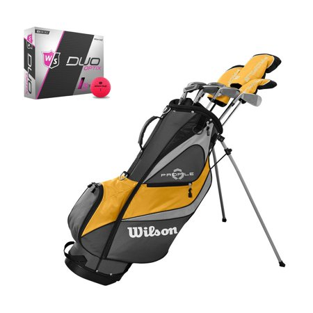 Graphite Stand Bags - Wilson Profile XD Men's RH Flex Graphite Steel Golf Club Stand Bag Set and Balls