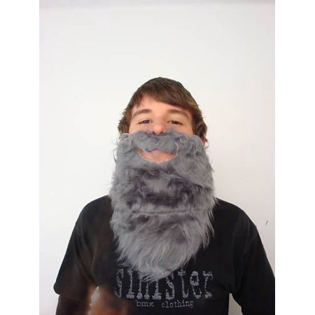 Fun Beard Grey Fake Gray Strap On Pirate Santa Claus Gnome Costume Accessory for $<!---->