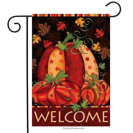 - Fall Festival Pumpkin Garden Flag Primitive Autumn Leaves 12.5