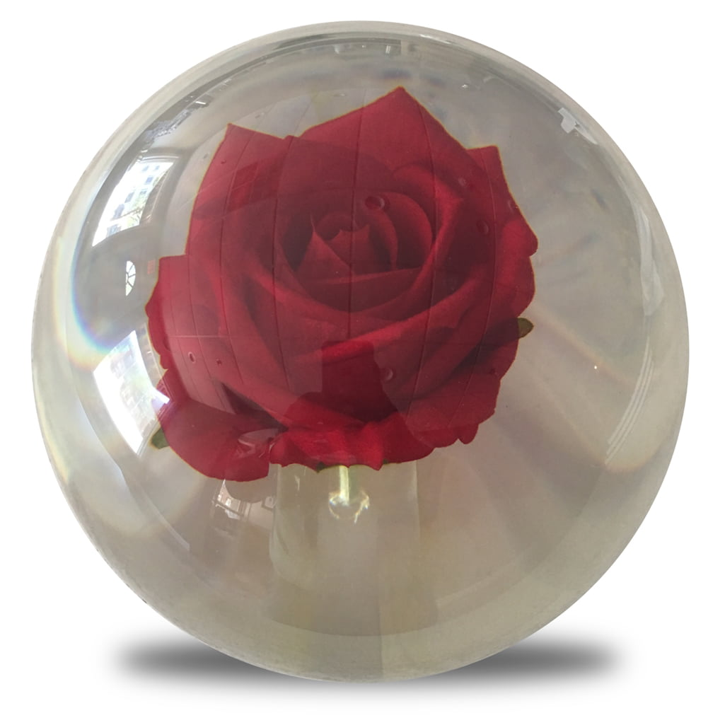 Clear Red Rose Bowling Ball- 14lbs by Bowlerstore Products