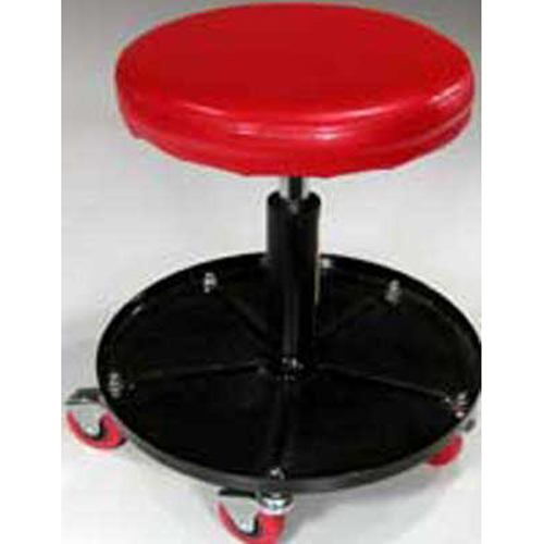 Round Adjustable Rolling Seat Stool Auto Shop Tools