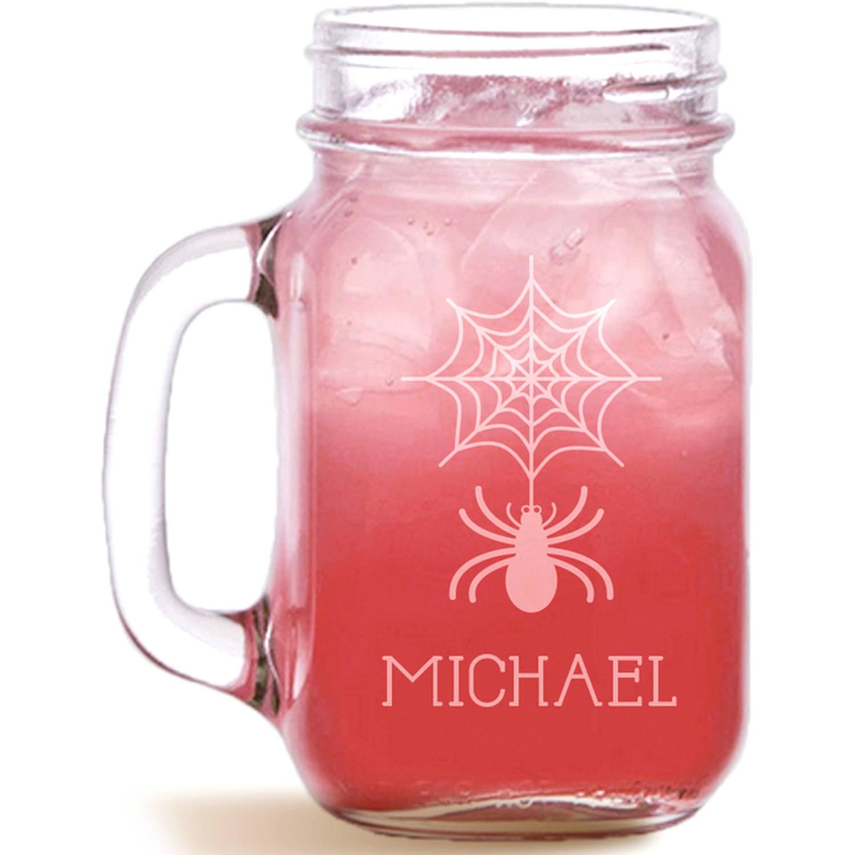 Itsy Bitsy Spider Personalized Mason Jar, Holds, 15 oz