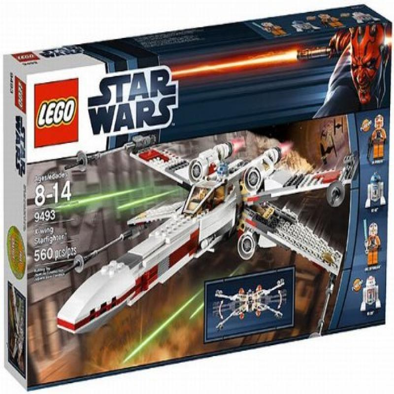 Lego Star Wars X-Wing Starfighter Spaceship with 4 Minifigures | 9493 by
