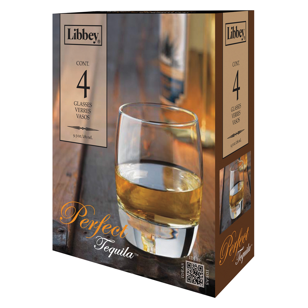 Libbey Perfect Tequila Glassware Set - 9.5 oz - 4 Pieces