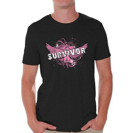 Survivor T-shirt Top Cancer t shirt breast cancer awareness t shirt faith love hope fight believe support survive survivor gifts for my mom dad grandpa grandma special for women for men think