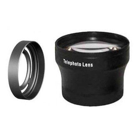 Fuji Sic Rings - Tele Lens + LH-X10 Lens Hood with Adapter Ring Tube for Fuji FujiFilm X10 bundle