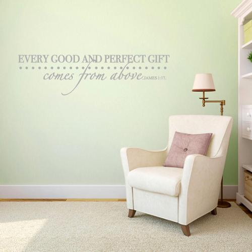Every Good and Perfect Gift - Wall Decal - 42x11 SEAFOAM GREEN