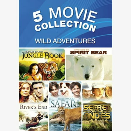 Wild Jungle - 5-Movie Collection: Wild Adventures - The Jungle Book / Simon And The Spirit Bear / River's End / Hollywood Safari / Secret Of The Andes