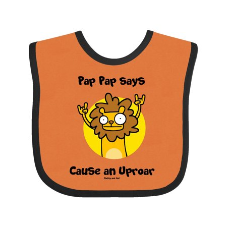 pap pap says cause an uproar Baby Bib
