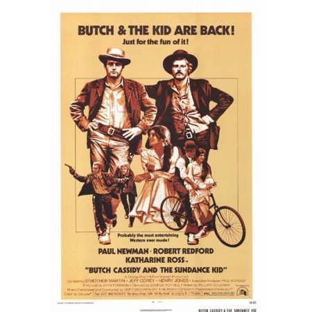 Butch Cassidy And The Sundance Kid Poster B 27X40 Paul Newman Robert Redford Katharine Ross  Approx  Size  27 X 40 Inches   69Cm X 102Cm By Pop Culture Graphics Usa