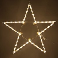 """Kringle Traditions 32"""" Warm White LED Star Light, Fold-Flat Christmas Lighted Star, Outdoor"""