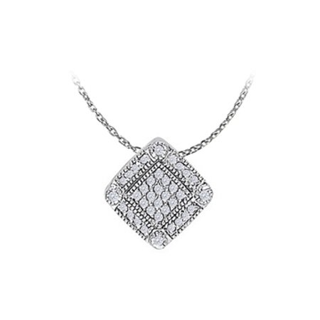 Pretty Cubic Zirconia Flower Pendant in 925 Sterling Silver Available at Most Affordable Price - image 1 de 2