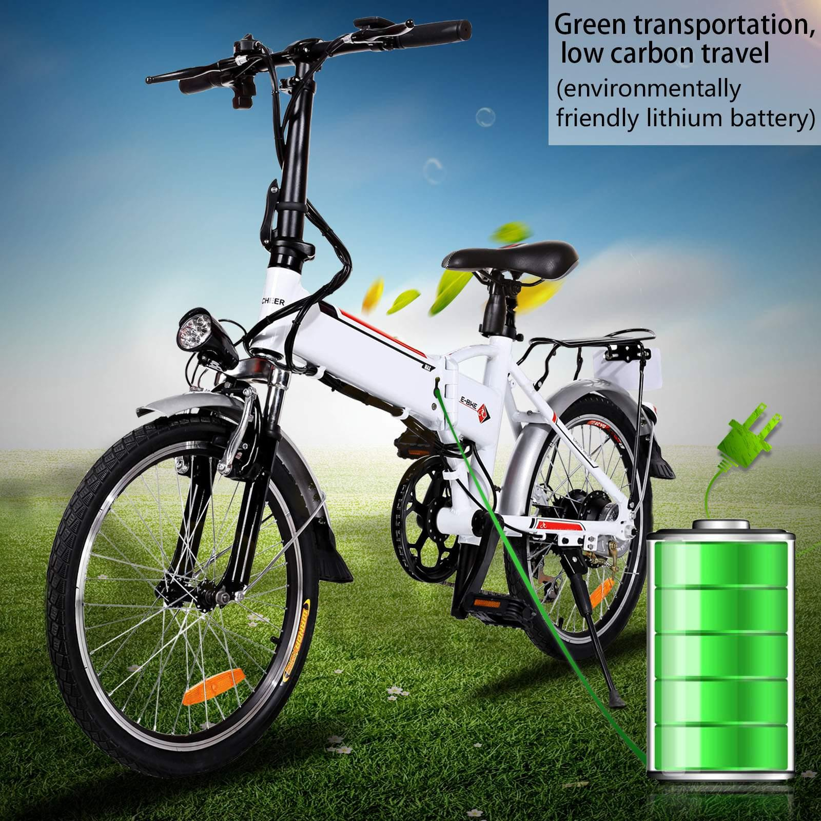 25-35KM/H Speed 19'' Folding Electric Mountain Bike with 36V, 8AH Removable Lithium-Ion Battery 250W Electric Bike for Adults with Battery Charger