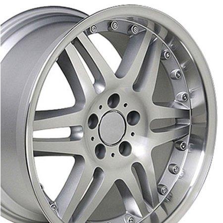 - 18x9.5 Wheel Fits Mercedes Benz - C E S Class SLK CLK CLS Silver Mach'd Rim ET38 (REAR ONLY)