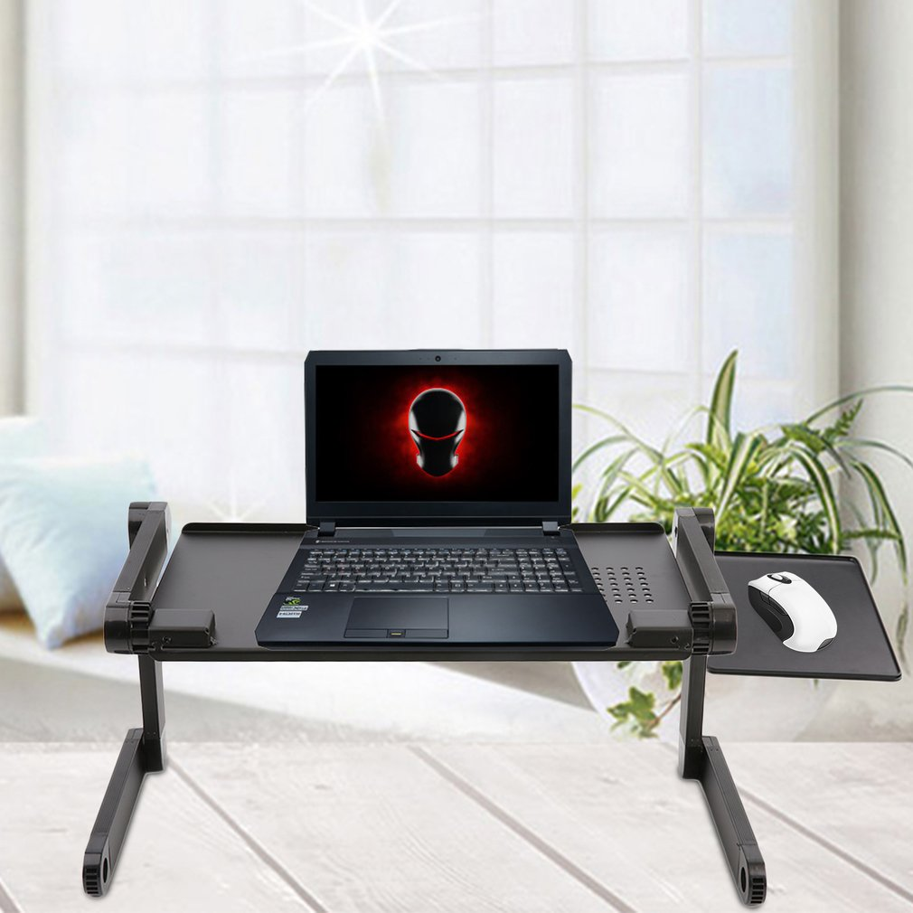 Laptop Notebook Desk Table Multi Functional Ergonomic Adjustable Foldable Laptop Notebook Desk Table N Type Stand Portable Sofa Bed Tray Height 45-490mm