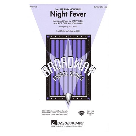 Hal Leonard Night Fever (from Saturday Night Fever) SATB by Bee Gees arranged by Mac Huff - Bee Gees Outfits