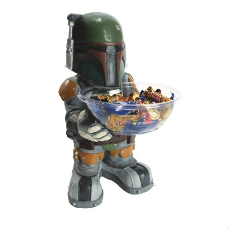 Star Wars Adult Boba Fett Candy Holder Halloween Costume - Halloween Candy Bucket