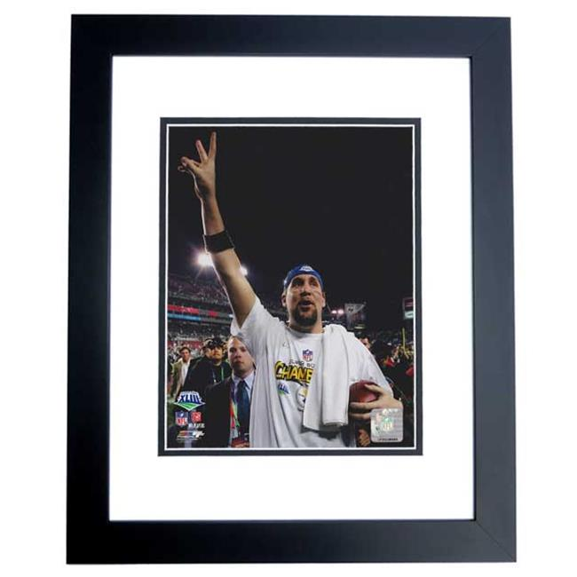 Ben Roethlisberger Unsigned Pittsburgh Steelers 8X10 Inch Photo Black Custom Frame