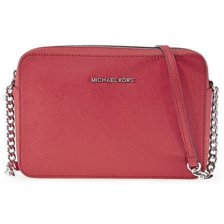 ff69ee070 Michael Kors - Michael Kors Jet Set Large Saffiano Leather Crossbody - Red  - 32S4STVC3L-204 - Walmart.com