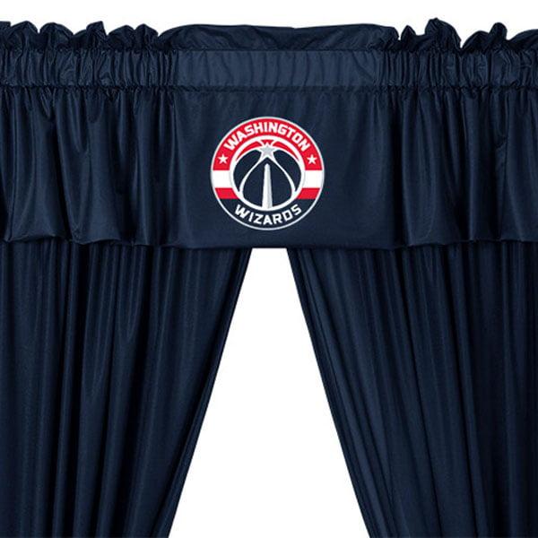 5pc NBA Washington Wizards Drape and Valance Set Basketball Team Logo Window Treatment by Store51 LLC