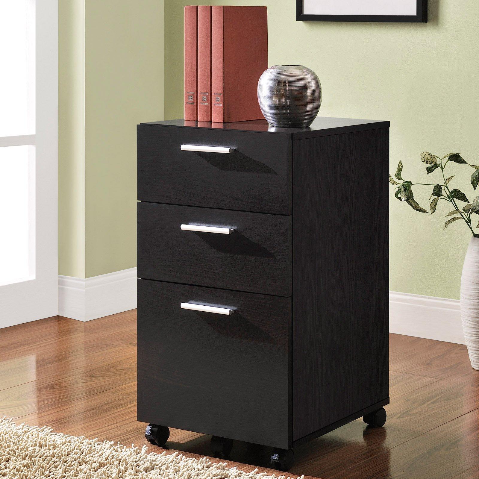 Ameriwood Home Princeton Mobile File Cabinet, Espresso