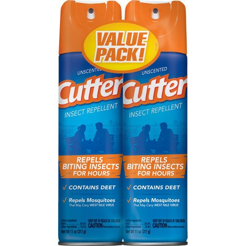 Cutter Unscented Mosquito Repellents, 2-Pack, 11 ounces