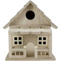 """Wood Birdhouse W/Porch-8.5""""X6.5""""X4.8"""""""