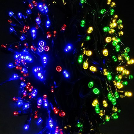 TrendBox - 20M 65ft Colorful Solar Energy Powered 200 LED String Fairy Bright Light Decorative Atmosphere Lamp For Wedding Deco X'mas Party Garden Christmas Tree Decoration