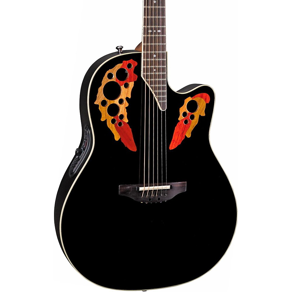 Ovation Pro Elite Standard 2778AX-5 Acoustic-Electric Guitar (Black)