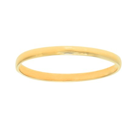 JewelStop 10K Real Yellow Gold Shiny Baby Infant Round Children Ring Sz 3
