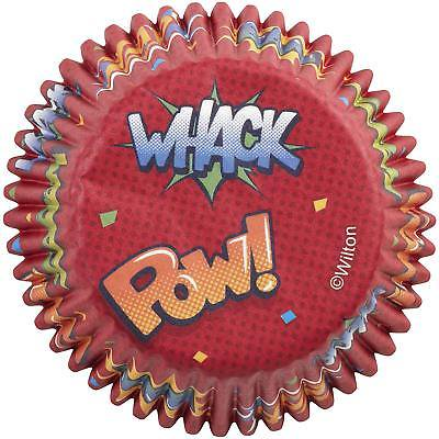 Whack, Pow, Zap, Zoom, Bam Cupcake Liners - 75 Count - National Cake (Zap Timer)