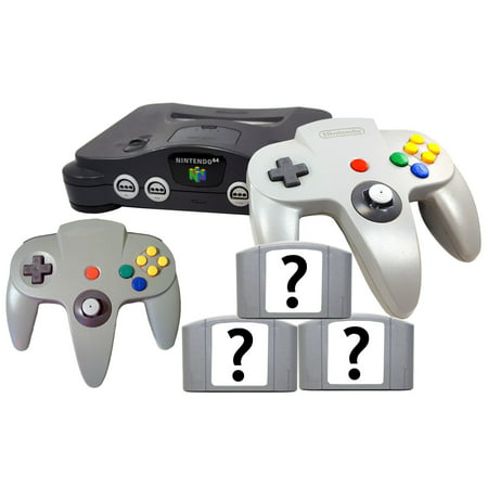 Refurbished Nintendo 64 N64 Console 3x Free Games Bonus Controller All (Best Nintendo 64 Emulator For Pc)
