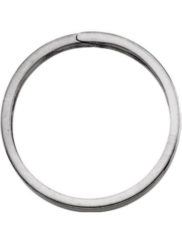 Round Split Key Ring in Sterling Silver by Bonyak Jewelry
