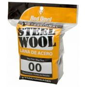 Red Devil 0322 Steel Wool # 00 Very Fine, 8 Pack Bag